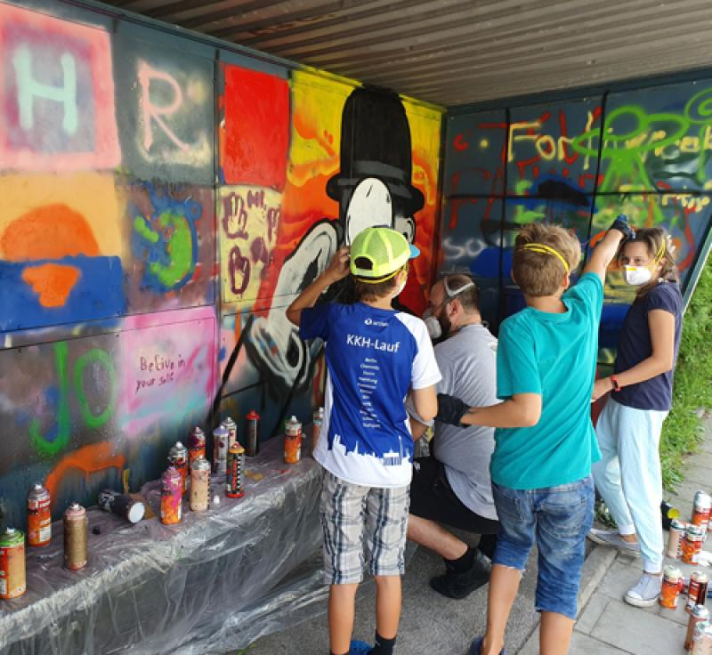Jugendzentrum STAMPS – Graffiti-Workshop in Puchheim-Ort